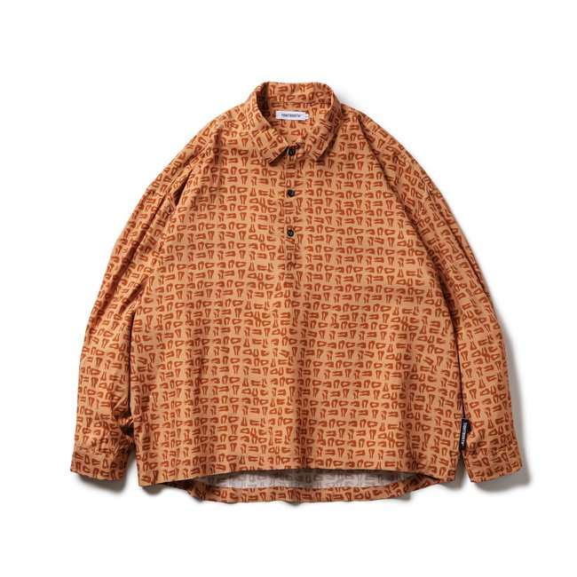 TIGHTBOOTH (タイトブース)MAD COW FOOTPRINT PULLOVER SHIRT (Terracotta)