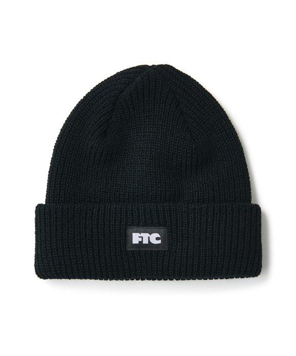 FTC / BOX LOGO BEANIE (Black)
