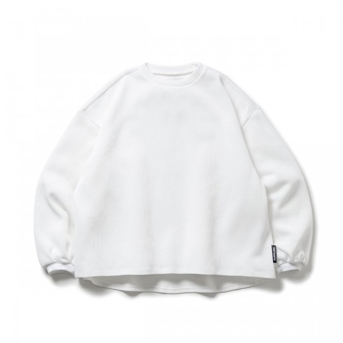 TIGHTBOOTH (タイトブース)WAFFLE CREW KNIT (White)