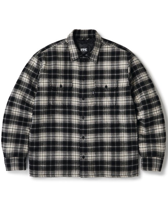 FTC / QUITED LINED PLAID NEL SHIRT (Black)