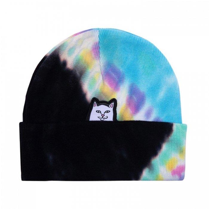 RIP N DIP (リップンディップ)Lord Nermal Beanie (Black / Rainbow Tie Dye)