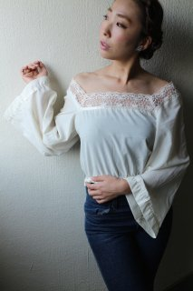 1970's vintage Bohemian blouse レース antique