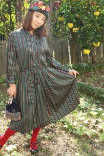 1960's vintage stripe dress ヴィンテージ ワンピース antique