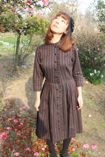 <img class='new_mark_img1' src='https://img.shop-pro.jp/img/new/icons25.gif' style='border:none;display:inline;margin:0px;padding:0px;width:auto;' />1950's vintage stripe classic dress antique 結婚式 ワンピース ヴィンテージ レトロ