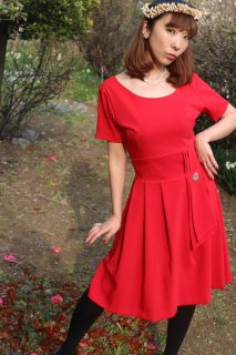 1950's style red dress vintage style antique ヴィンテージ レトロ ピンナップガール