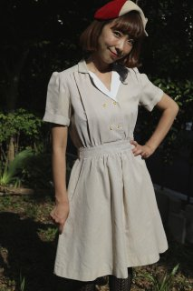 <img class='new_mark_img1' src='https://img.shop-pro.jp/img/new/icons14.gif' style='border:none;display:inline;margin:0px;padding:0px;width:auto;' />1950's vintage dress 制服 ワンピース レトロ アンティーク