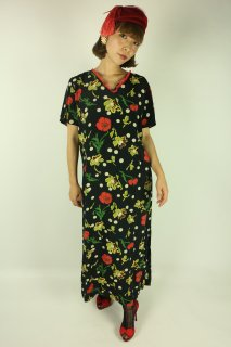 <img class='new_mark_img1' src='https://img.shop-pro.jp/img/new/icons14.gif' style='border:none;display:inline;margin:0px;padding:0px;width:auto;' />1930's vintage silk dress チャイナ風 レトロ アンティーク ワンピース