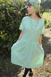 1950's vintage mint green チェック柄 Dress ワンピース antique