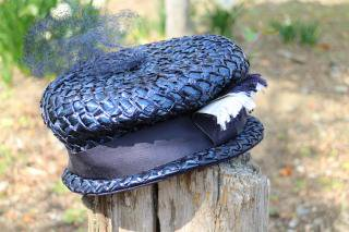 1950's vintage Summer Hat 帽子 antique blue
