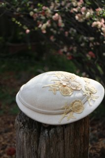1940's vintage white Hat flower 結婚式 antique
