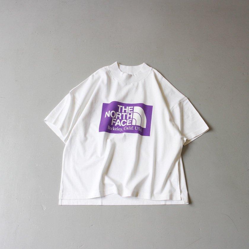 THE NORTH FACE PURPLE LABEL ハイバルキー ロゴプリント モックネックTシャツ