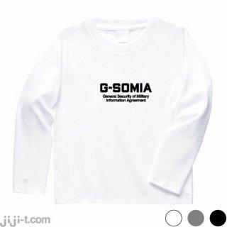 GSOMIA破棄ショック 長袖Tシャツ [日韓軍事情報協定破棄]