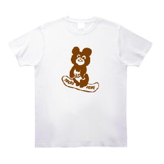 こぐまのミーシャ、ソチでスノボする Tシャツ