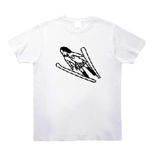 スキージャンプ女子高生 Tシャツ