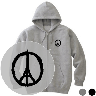 PEACE FOR PARIS トレーナー/パーカー [パリテロ事件 追悼]