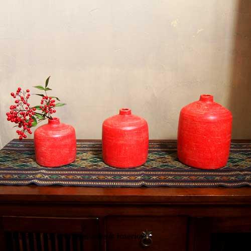 陶器のフラワーベース
