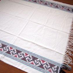 手織りイカットWH 120×250(cm)