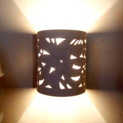 セラミック彫りランプ  半円タイプ FRANGIPANI