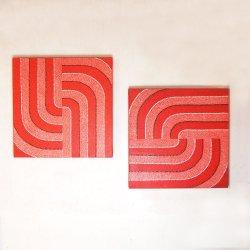 ドットアート RED 50×50(cm)