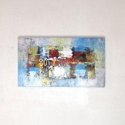 モダンバリアート ブルー 40×70(cm)
