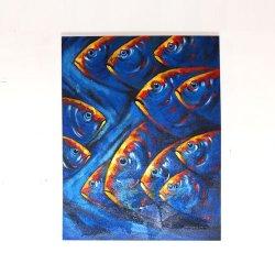IKAN BLUE  70×90(cm)