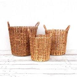 ウォーターヒヤシンスの編み編みバスケット