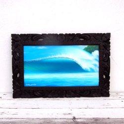 木彫りバリフレーム 波 A 59×39(cm)