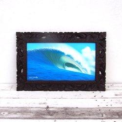 木彫りバリフレーム 波 B 59×39(cm)