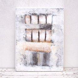 モダンアート ホワイトA 60×80(cm)
