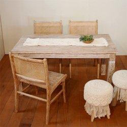 【送料無料】ダイニングテーブルMIKE ホワイトウォッシュW145(cm)