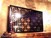 チャイナチックな立て掛け鏡 120×60(cm)