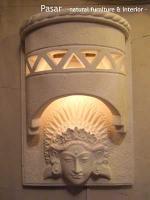 セラミック彫りランプ女神