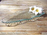 バリガラス バナナリーフプレート 21cm