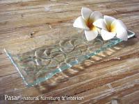 バリガラス フランジパニの横長プレート