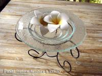 バリガラス フラワーオブジェ 17cm