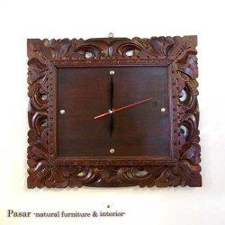 バリフレーム彫り 掛け時計