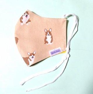 耳に優しいマスク 抗菌・抗ウイルス加工素材使用 アジャスター調整 犬柄