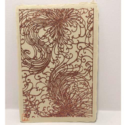 【五十崎和紙】ギルディング ポストカード 糸菊