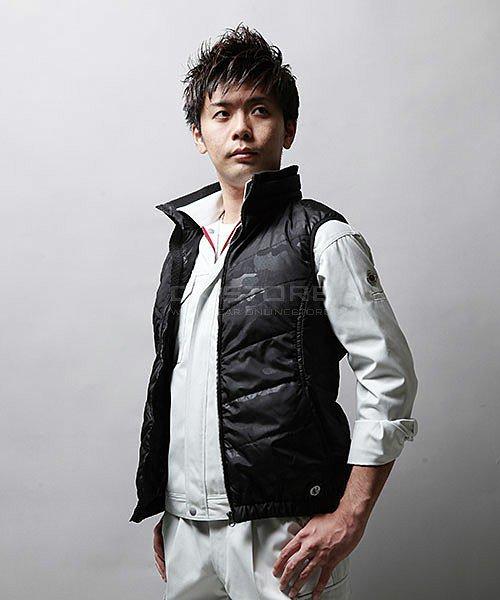 【tASkfoRce】中綿エンボスベスト 01099「防寒ベスト」のカラー12