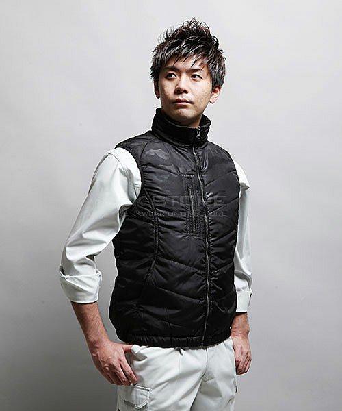 【tASkfoRce】中綿エンボスベスト 01099「防寒ベスト」のカラー13