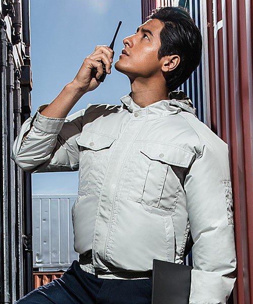 【サンエス】空調風神服KU90800 チタン加工フード付長袖ブルゾン単品「空調服」のカラー7