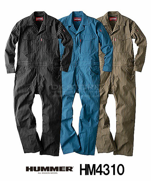 【HUMMER】HM4310「長袖つなぎ」[通年用]