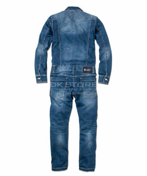 【グレースエンジニアーズ】GE-500「接触冷感デニム長袖つなぎ」のカラー3
