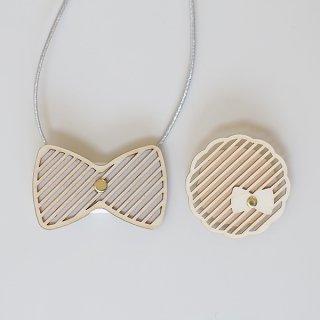 sukima  ribbon tie & brooch 蝶ネクタイとブローチのセット