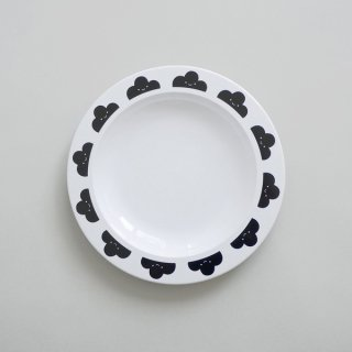 BUDDY AND BEAR / プレート / Happy Clouds  Plastic Plate (Black)