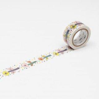 ミナペルホネン マスキングテープ flower・white