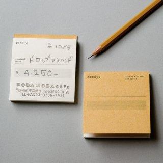正方形領収書(英語)   単票50枚綴り