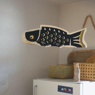 手漉き和紙の型染 鯉のぼり