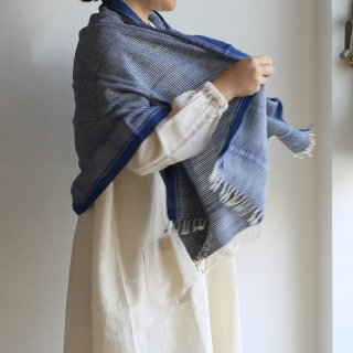 スノアンドモリソン Suno&Morrison Organic Khadi Basket Bath Towel (Indigo Chambray)