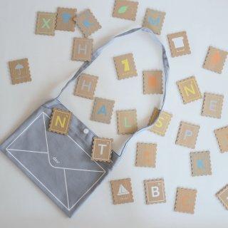 dou ABC stamp 木製アルファベットカード